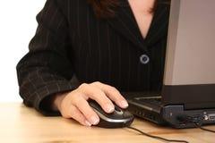 Trabalho do computador Foto de Stock Royalty Free
