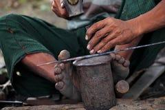 Trabalho do ferreiro Fotografia de Stock