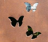Trabalho do metal da borboleta fotografia de stock royalty free