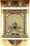 Trabalho do mosaico do palácio de Udaipur do pavão Foto de Stock Royalty Free
