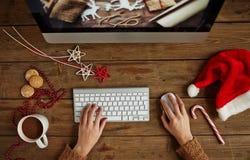 Trabalho do Natal Imagens de Stock Royalty Free