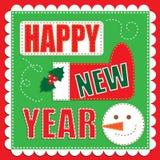 Trabalho do remendo do ano novo feliz Fotos de Stock