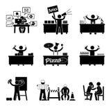 Trabalho do ser humano do ícone ícone do trabalho sobre o fundo branco foto de stock