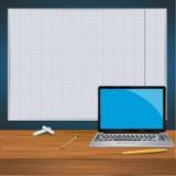 Trabalho do vetor da ilustração do portátil, para o projeto Imagem de Stock
