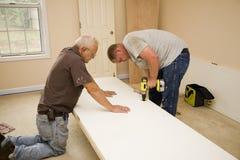 Trabalho dos carpinteiros Fotografia de Stock