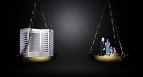 Trabalho e família de equilíbrio Imagens de Stock