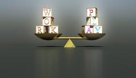 Trabalho e jogo de equilíbrio Foto de Stock
