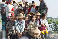Trabalho em Myanmar Foto de Stock