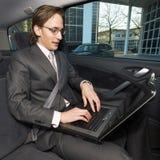 Trabalho em um táxi Foto de Stock Royalty Free
