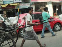Trabalho manual em Kolkata Imagens de Stock Royalty Free