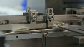 Trabalho na máquina de empacotamento farmacêutica da bolha da fábrica filme