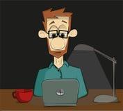 Trabalho na noite ilustração do vetor