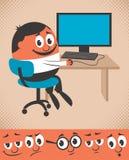 Trabalho no computador Foto de Stock Royalty Free