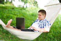 Trabalho no hammock Fotos de Stock