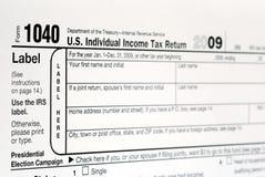 Trabalho no imposto de renda 1040 de Estados Unidos imagem de stock royalty free