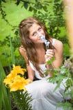 Trabalho no jardim Foto de Stock Royalty Free