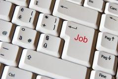 Trabalho no teclado Imagens de Stock Royalty Free