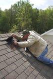 Trabalho no telhado Foto de Stock