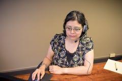 Trabalho ocupado profissional fêmea Carreira-ocupado Imagens de Stock