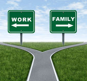 Trabalho ou família Imagem de Stock Royalty Free
