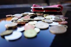 Trabalho para moedas de um centavo Foto de Stock Royalty Free