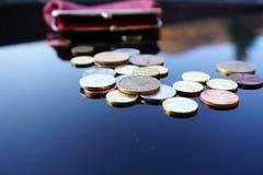 Trabalho para moedas de um centavo Imagens de Stock Royalty Free