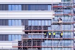 Trabalhos da isolação térmica da fachada Fotografia de Stock Royalty Free