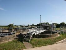 Trabalhos de água de esgoto Imagem de Stock Royalty Free