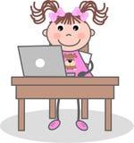 Trabalhos de casa ilustração royalty free