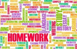 Trabalhos de casa Imagens de Stock