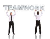 Trabalhos de equipa Imagem de Stock