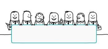 Trabalhos de equipa & espaço em branco Imagens de Stock