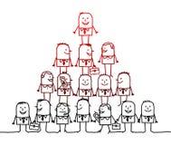Trabalhos de equipa & liderança Fotografia de Stock