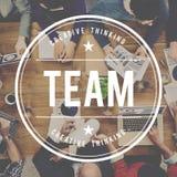 Trabalhos de equipa Concep de Team Building Collaboration Connection Corporate fotos de stock