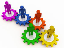 Trabalhos de equipa corporativos da maquinaria ilustração do vetor