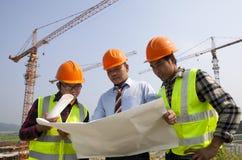 Trabalhos de equipa da construção Fotografia de Stock Royalty Free