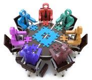 Trabalhos de equipa das soluções da reunião Fotos de Stock Royalty Free