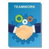 Trabalhos de equipa do cartaz do negócio Foto de Stock