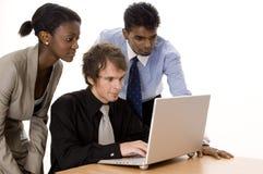 Trabalhos de equipa do computador Imagem de Stock Royalty Free