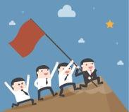 Trabalhos de equipa do homem de negócios da liderança Foto de Stock Royalty Free