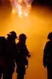 Trabalhos de equipa do incêndio Fotografia de Stock