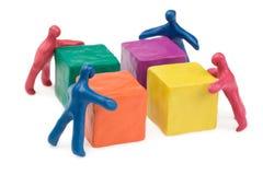 Trabalhos de equipa do negócio Imagem de Stock Royalty Free