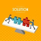 Trabalhos de equipa do negócio ilustração stock