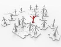 Trabalhos de equipa do negócio em partes do enigma Imagem de Stock