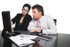 Trabalhos de equipa do negócio - isolados Imagens de Stock