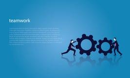 Trabalhos de equipa do negócio para alcançar junto o sucesso Imagem de Stock