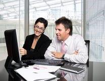 Trabalhos de equipa do negócio Fotografia de Stock