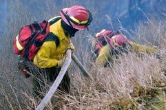 Trabalhos de equipa do sapador-bombeiro Imagens de Stock Royalty Free