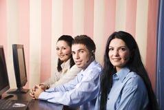 Trabalhos de equipa do serviço de atenção a o cliente foto de stock royalty free