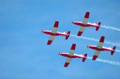 Trabalhos de equipa dos aviões Fotos de Stock